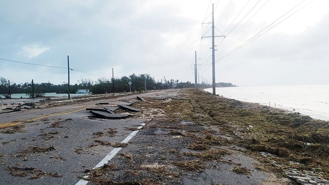 Hurricane Irma Roadway Damage