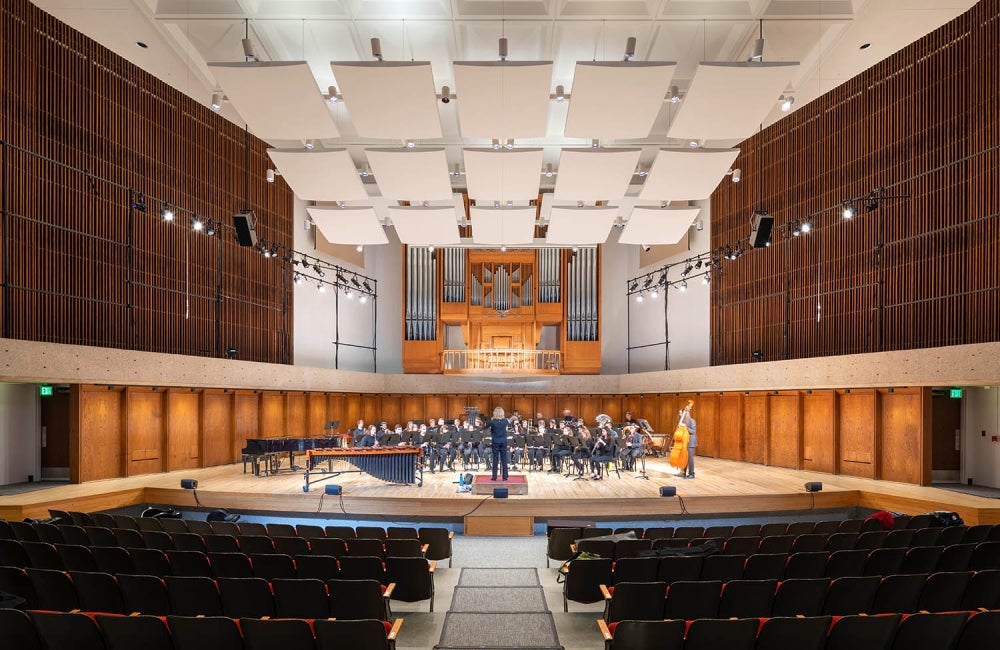 University of Nebraska Strauss Performing Arts Renovation Hall HDR