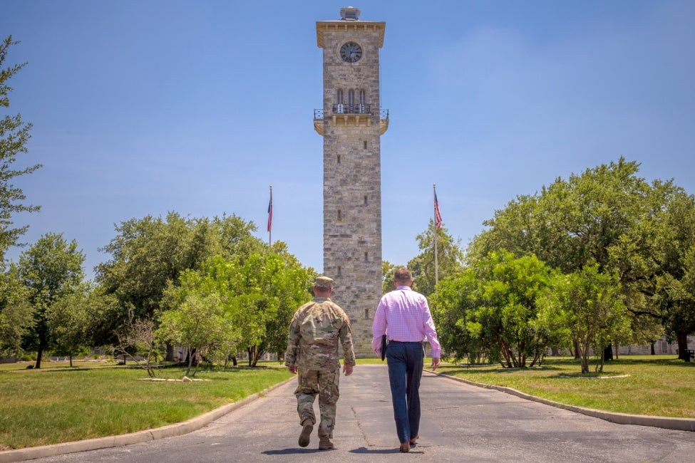 Quadrangle at Fort Sam Houston Watch Tower