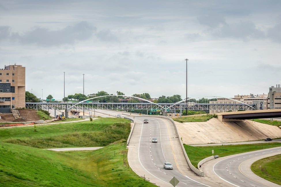 creighton university pedestrian bridge over highway