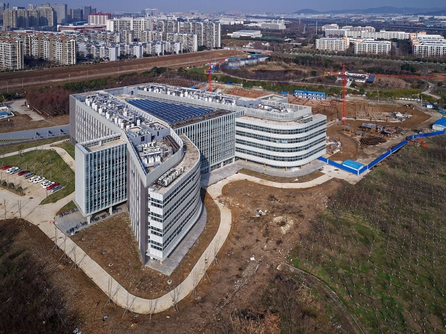 China Pharmaceutical University Jiangning Campus Lab Building Aerial