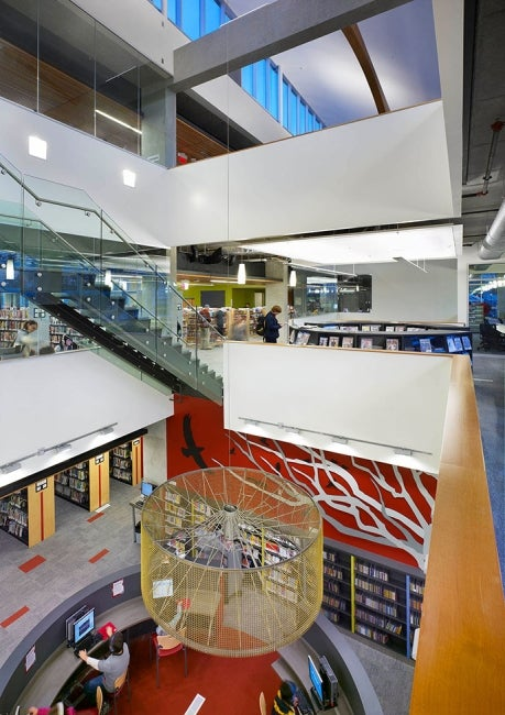 North Vancouver City Library Atrium