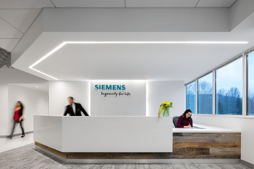 Siemens Corporation Princeton Lobby Renovation Reception Desk