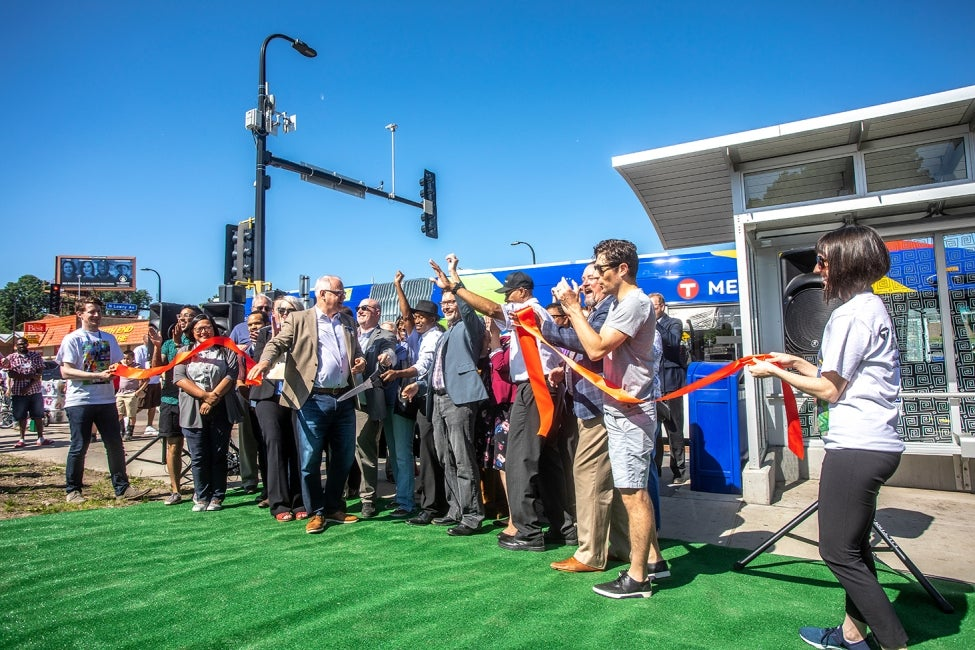 Minneapolis C Line BRT ribbon cutting