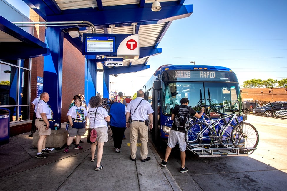 Minneapolis C Line BRT riders