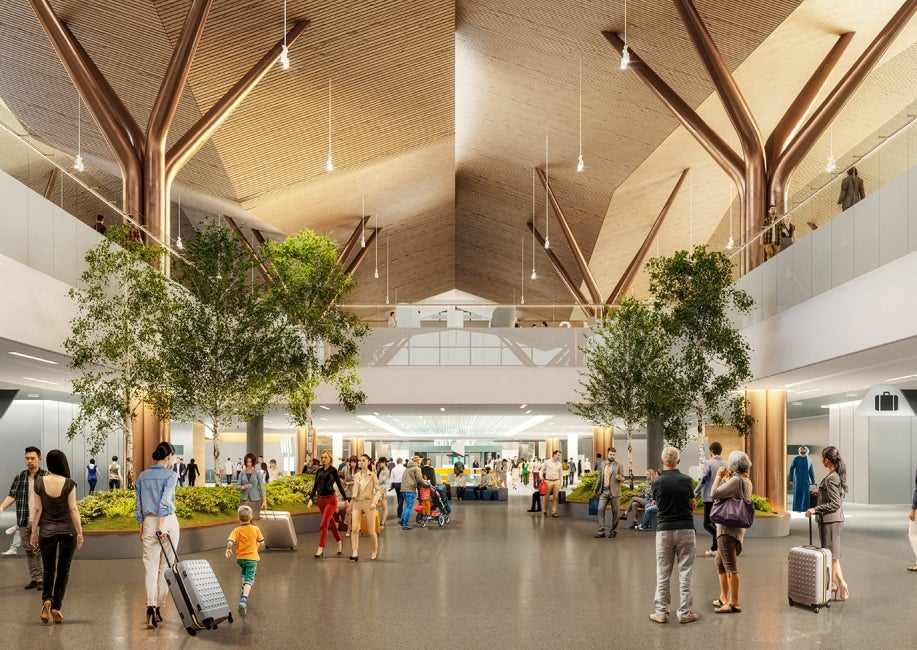 Pittsburgh terminal modernization arrivals hall