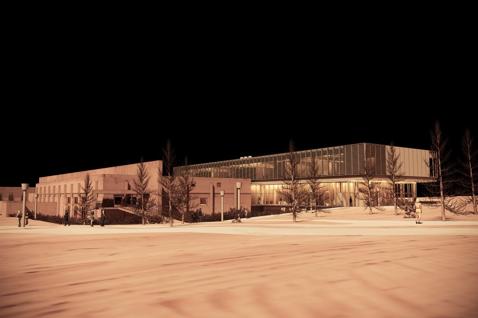 York University Neuroscience Lab Research Building Illuminated