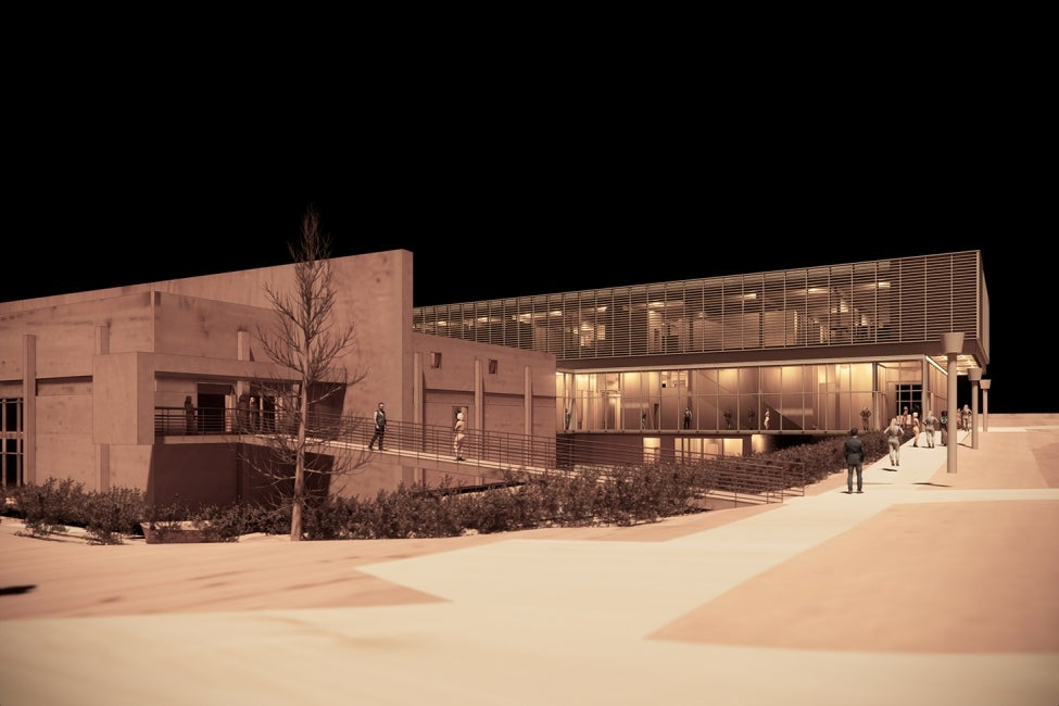 York University Neuroscience Lab Research Building Night