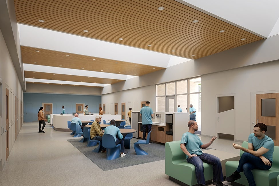Joliet In-Patient treatment center dayroom