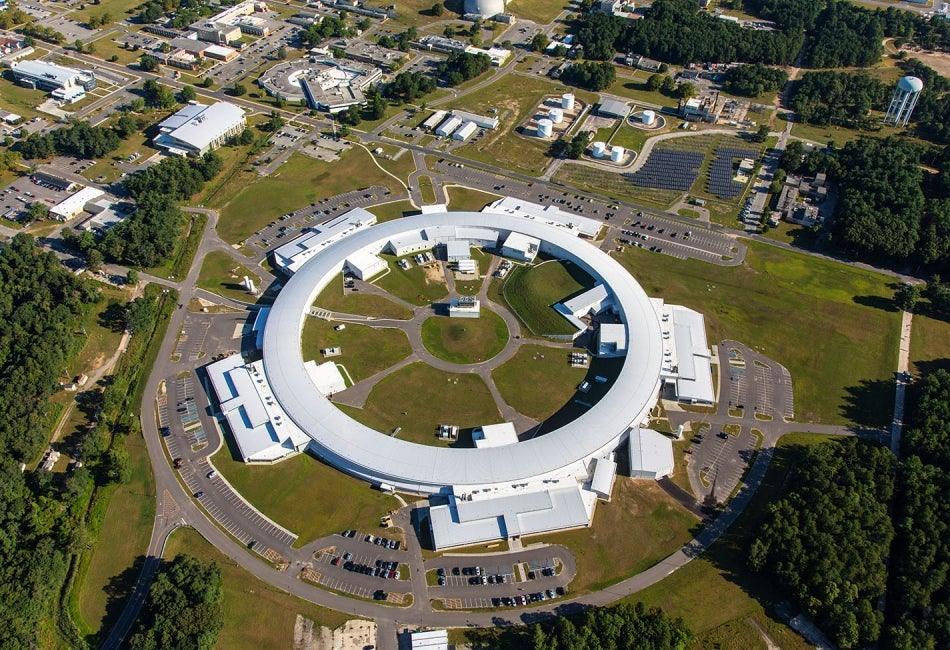 Brookhaven National Lab Synchrotron Light Source above