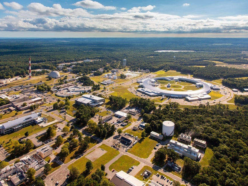 Brookhaven National Lab Synchrotron Light Source aerial