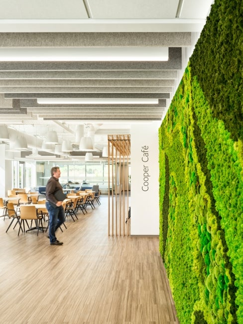 Cooper Companies CooperVision Headquarters living wall