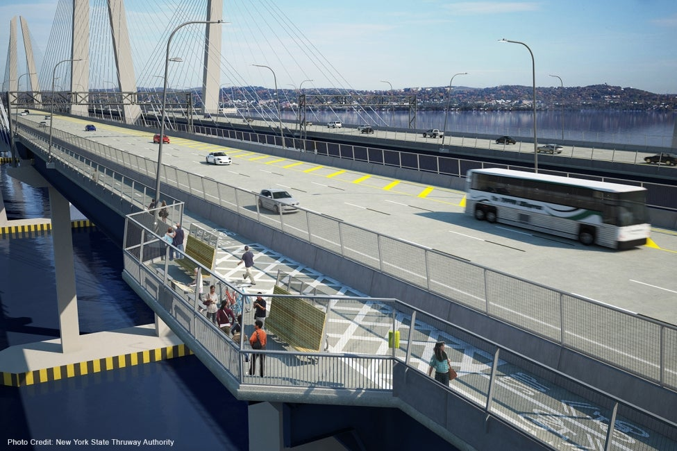 Governor Mario M. Cuomo Bridge (Tappan Zee) multimodal roadway rendering