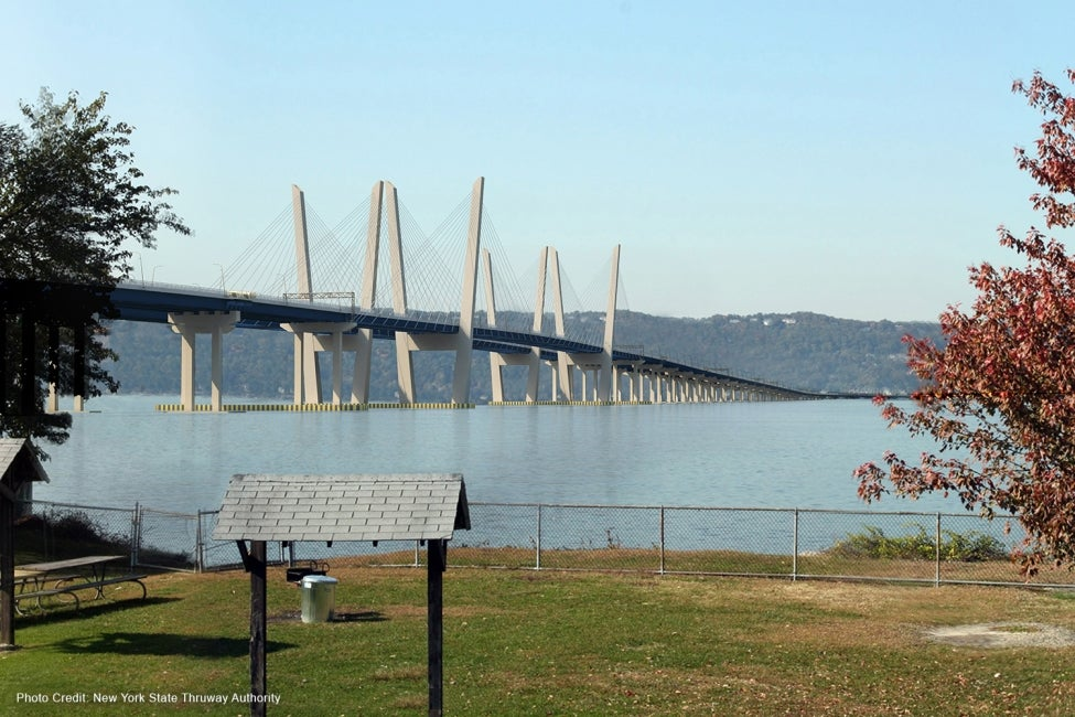Governor Mario M. Cuomo Bridge (Tappan Zee) distance rendering