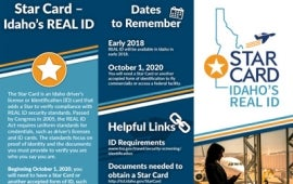 Idaho DOT Star Card brochure