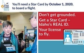 Idaho Star Card Postcard