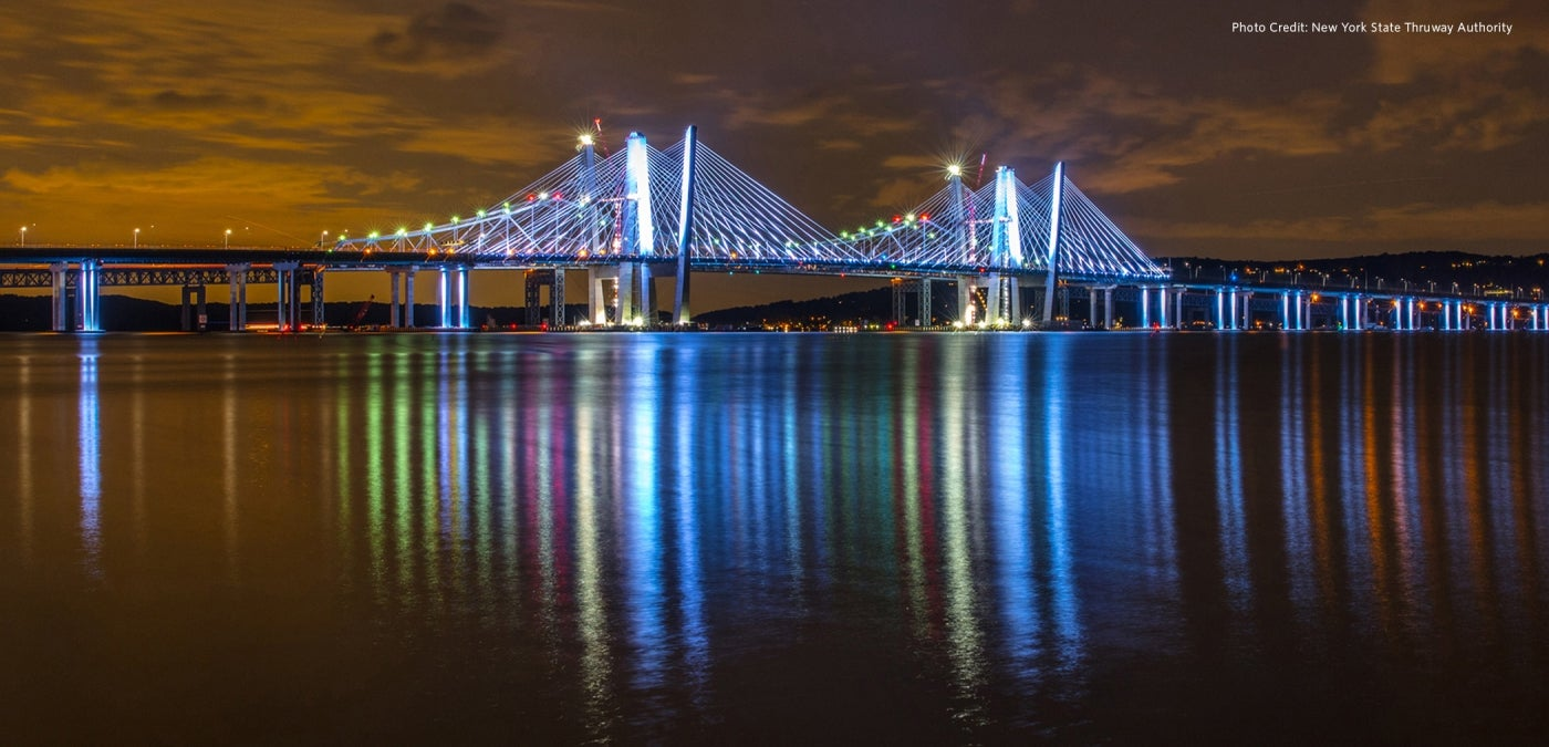 Gov. Mario M. Cuomo Bridge at night
