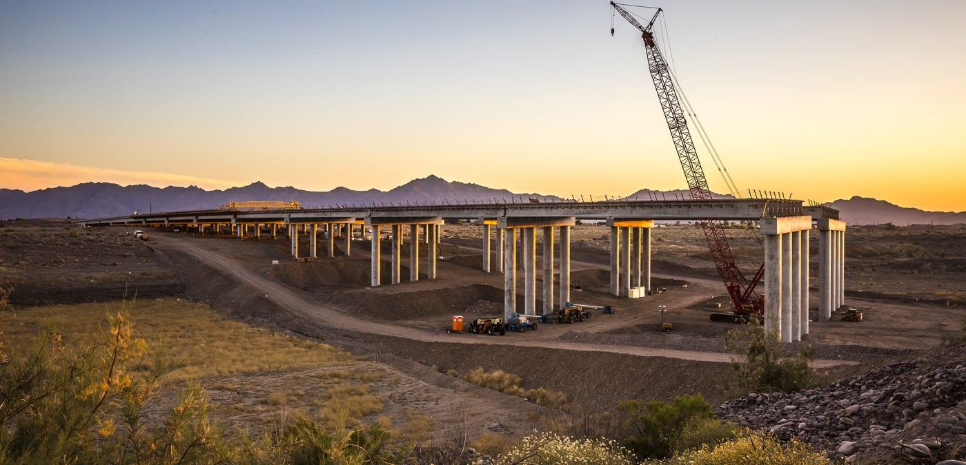 Arizona bridge construction