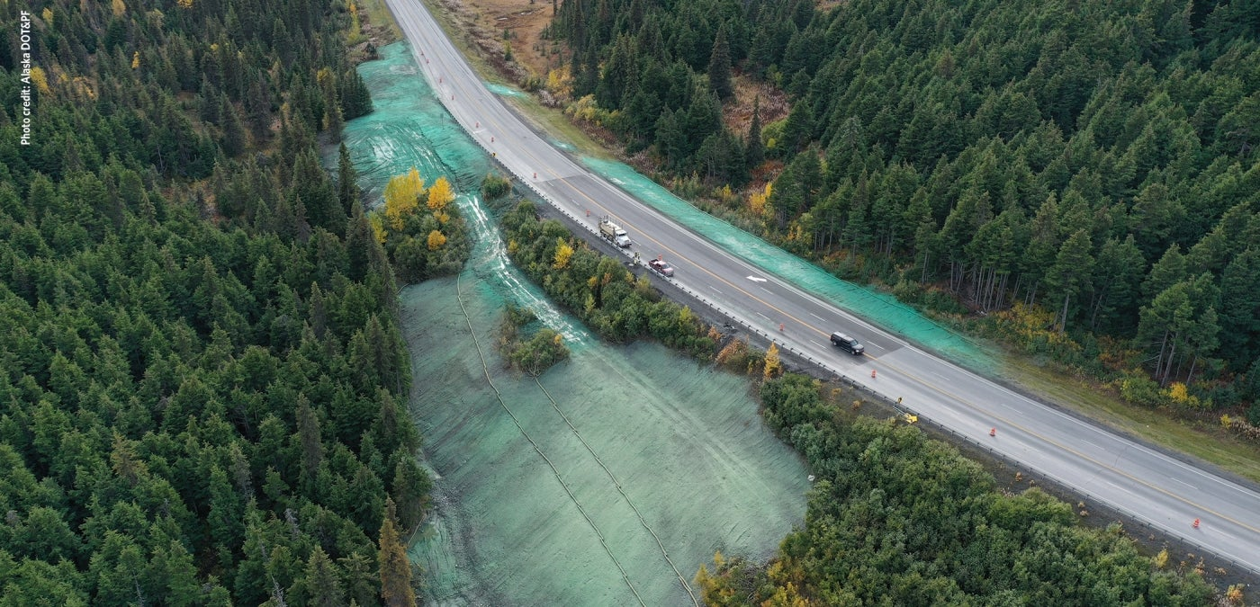 alaska quake road repair