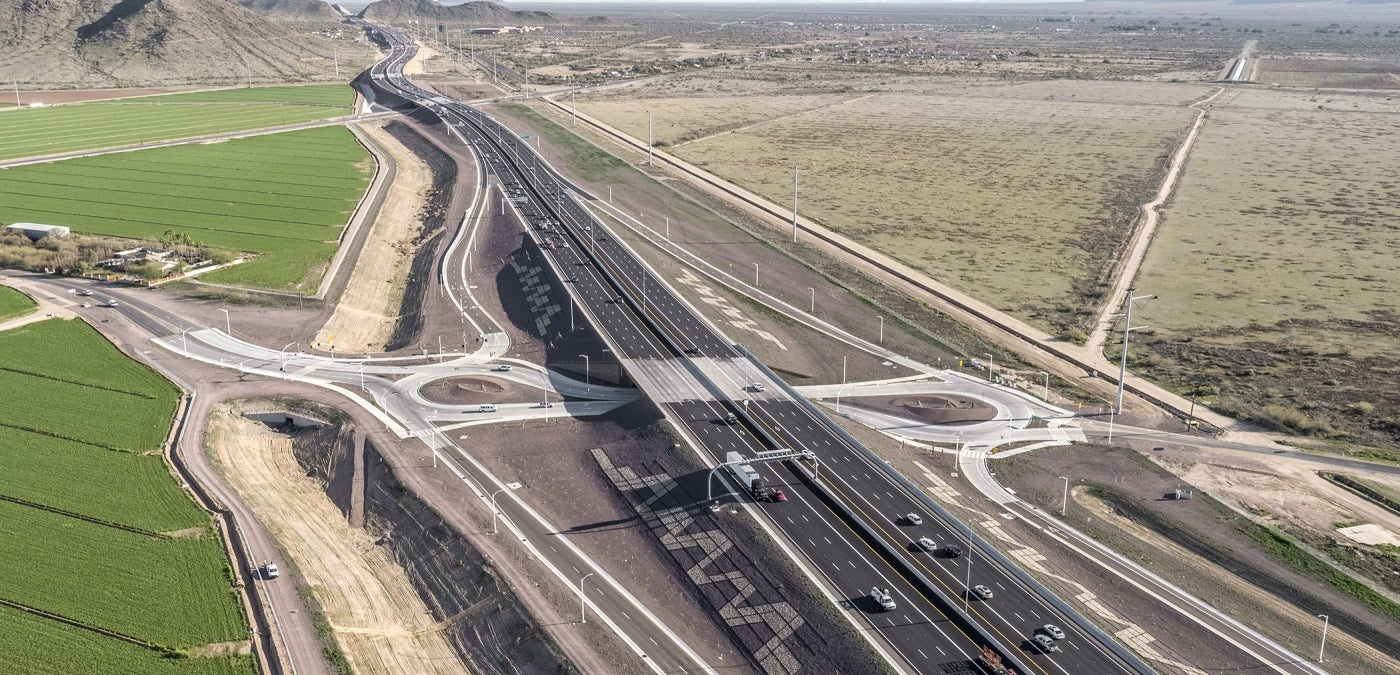 South Mountain Freeway aerial
