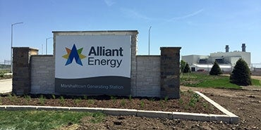 Alliant Energy Marshalltown Generating Station Sign