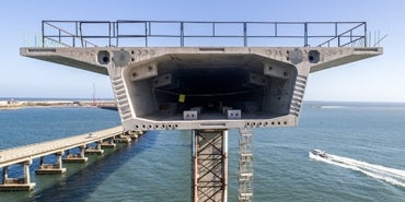 Precast concrete for North Carolina Bonner Bridge