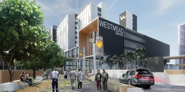 External render of Westmead Central Acute Services Centre