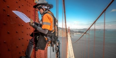 Golden Gate Bridge inspection