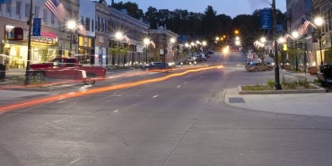 Plattsmouth Street at Night