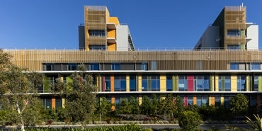 Sunshine Coast University Hospital colourful exterior
