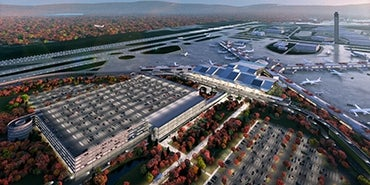 Pittsburgh airport terminal rendering