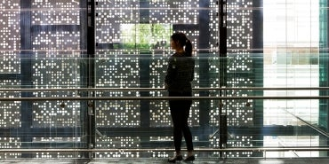 Chris O'Brien Lifehouse interior light filtered through perforated screen