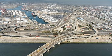 Port of Long Beach aerial