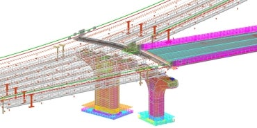 BIM model bridge piers
