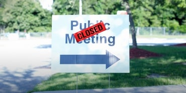public meeting closed