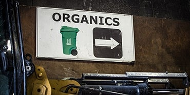 Organics Recycling Sign