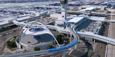 lax automated people mover aerial