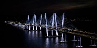 cuomo bridge night lights