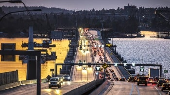Traffic on SR 520 Bridge
