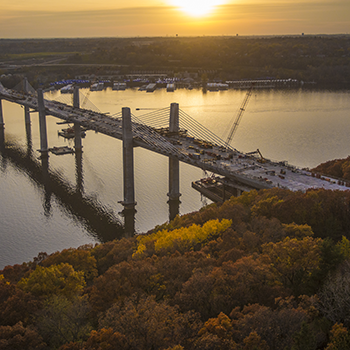 St. Croix Crossing at sunset