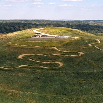 Aerial of Mount Trashmore