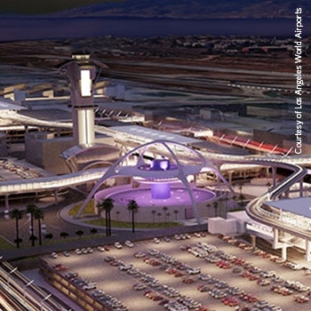 los angeles airport apm night rendering