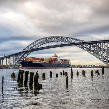 bayonne bridge complete ship