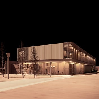 York University Neuroscience Lab Research Building Facade
