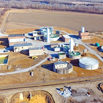 Tri-County Water Authority Water Treatment Plant aerial | Long-Term Planning and Design of Water Treatment Plant, Storage and Transmission System