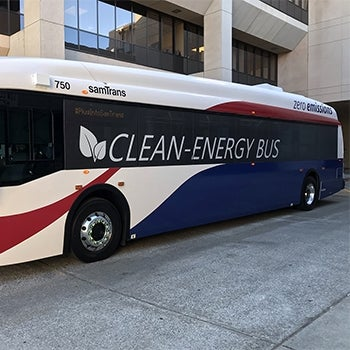 Clean Energy SamTrans bus