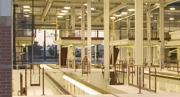 Denver RTD Elati LRV O&M Facility Service Bay with Mezzanine Level