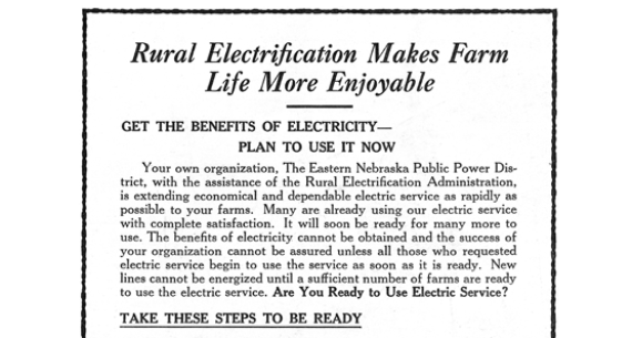 Rural Electrification Flier 1936