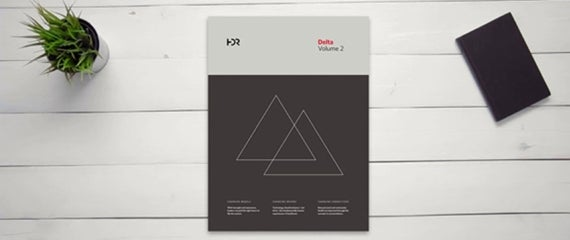 Delta volume 2 Book Cover on Desk